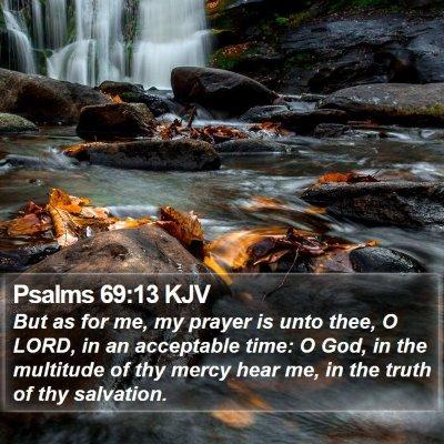 Psalms 69:13 KJV Bible Verse Image