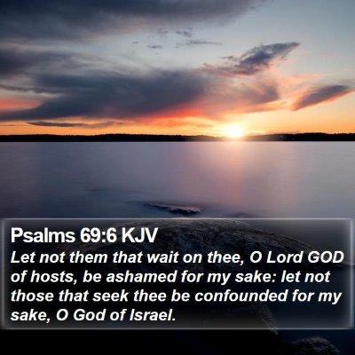 Psalms 69:6 KJV Bible Verse Image