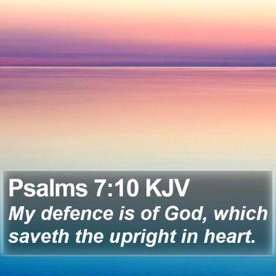 Psalms 7:10 KJV Bible Verse Image
