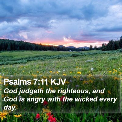Psalms 7:11 KJV Bible Verse Image
