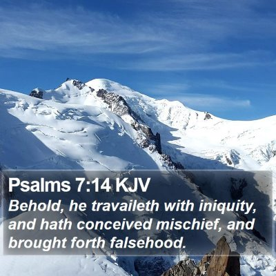 Psalms 7:14 KJV Bible Verse Image