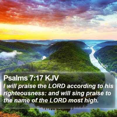 Psalms 7:17 KJV Bible Verse Image