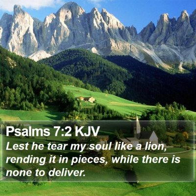 Psalms 7:2 KJV Bible Verse Image