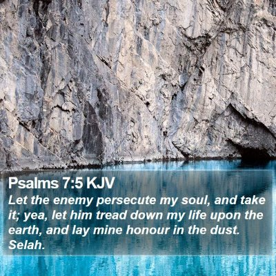 Psalms 7:5 KJV Bible Verse Image