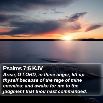 Psalms 7:6 KJV Bible Verse Image