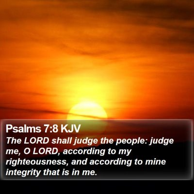 Psalms 7:8 KJV Bible Verse Image
