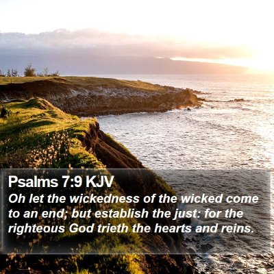 Psalms 7:9 KJV Bible Verse Image