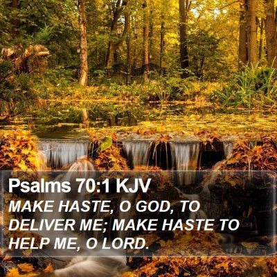 Psalms 70:1 KJV Bible Verse Image