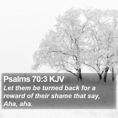 Psalms 70:3 KJV Bible Verse Image