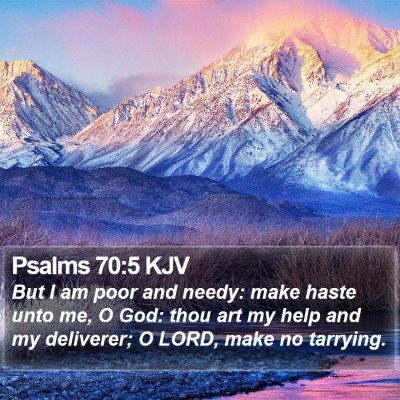 Psalms 70:5 KJV Bible Verse Image