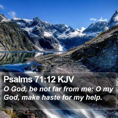 Psalms 71:12 KJV Bible Verse Image