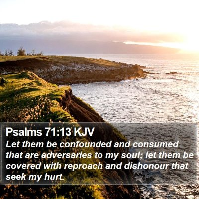 Psalms 71:13 KJV Bible Verse Image