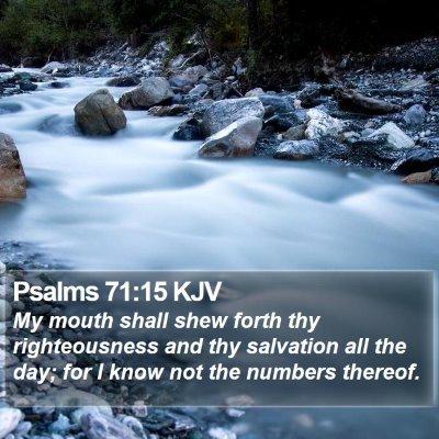 Psalms 71:15 KJV Bible Verse Image