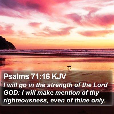 Psalms 71:16 KJV Bible Verse Image