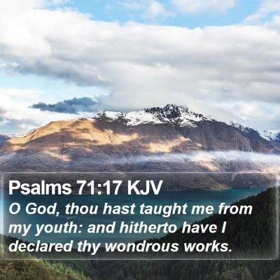 Psalms 71:17 KJV Bible Verse Image
