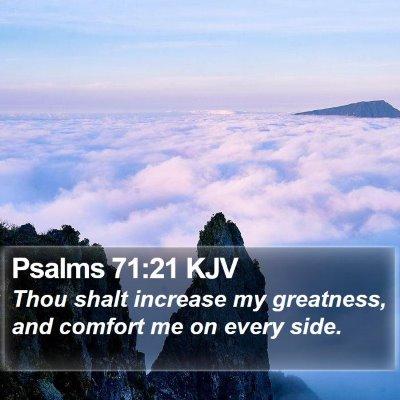 Psalms 71:21 KJV Bible Verse Image
