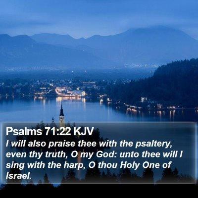 Psalms 71:22 KJV Bible Verse Image