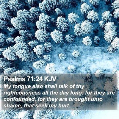 Psalms 71:24 KJV Bible Verse Image