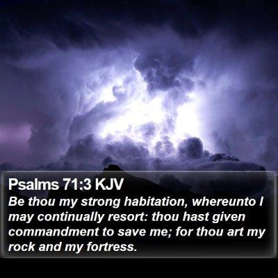 Psalms 71:3 KJV Bible Verse Image