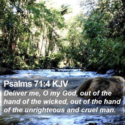 Psalms 71:4 KJV Bible Verse Image