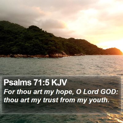 Psalms 71:5 KJV Bible Verse Image