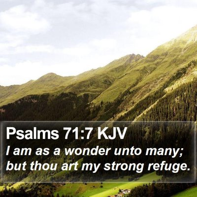 Psalms 71:7 KJV Bible Verse Image