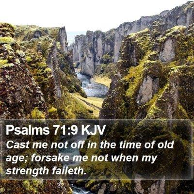 Psalms 71:9 KJV Bible Verse Image