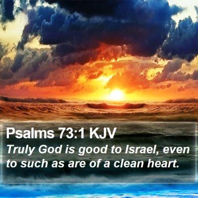 Psalms 73:1 KJV Bible Verse Image