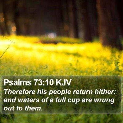 Psalms 73:10 KJV Bible Verse Image