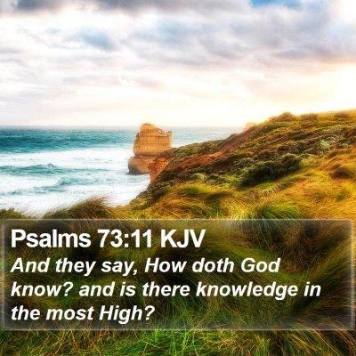 Psalms 73:11 KJV Bible Verse Image
