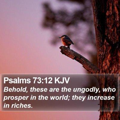 Psalms 73:12 KJV Bible Verse Image
