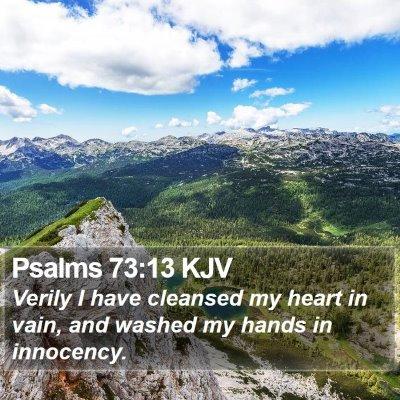 Psalms 73:13 KJV Bible Verse Image