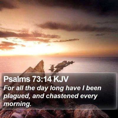 Psalms 73:14 KJV Bible Verse Image
