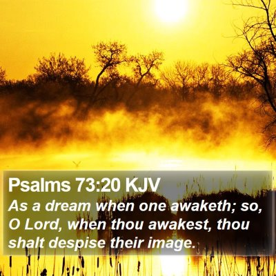 Psalms 73:20 KJV Bible Verse Image