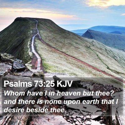 Psalms 73:25 KJV Bible Verse Image