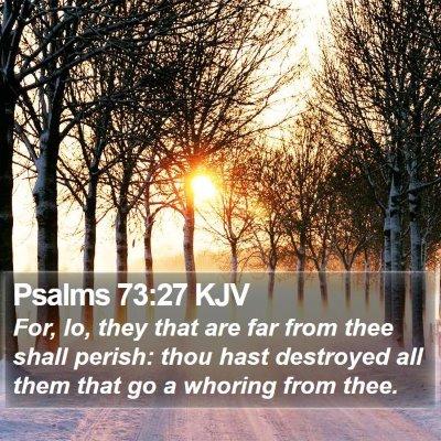 Psalms 73:27 KJV Bible Verse Image
