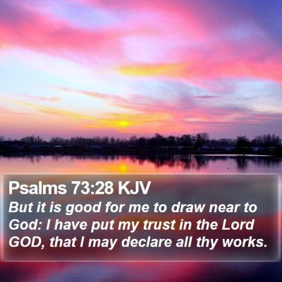 Psalms 73:28 KJV Bible Verse Image