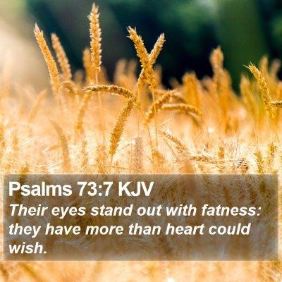 Psalms 73:7 KJV Bible Verse Image
