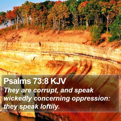 Psalms 73:8 KJV Bible Verse Image