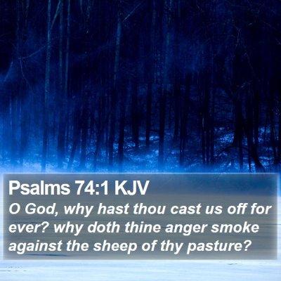 Psalms 74:1 KJV Bible Verse Image