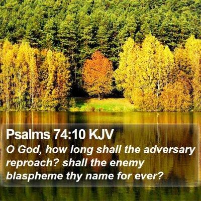 Psalms 74:10 KJV Bible Verse Image
