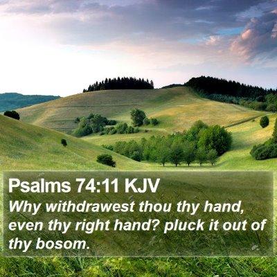 Psalms 74:11 KJV Bible Verse Image