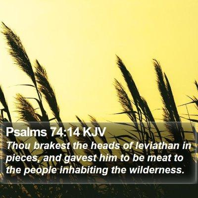Psalms 74:14 KJV Bible Verse Image