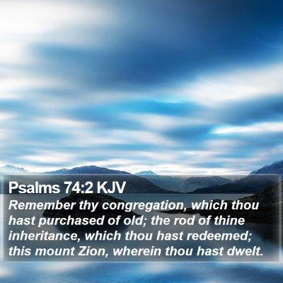 Psalms 74:2 KJV Bible Verse Image