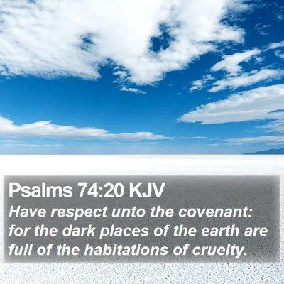 Psalms 74:20 KJV Bible Verse Image