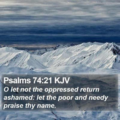 Psalms 74:21 KJV Bible Verse Image