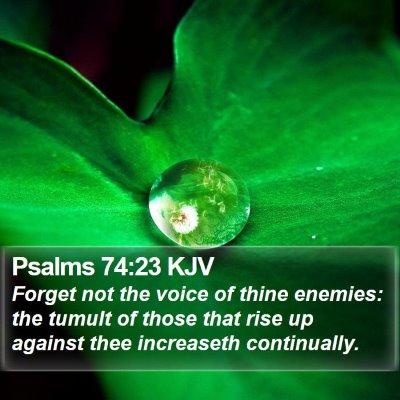 Psalms 74:23 KJV Bible Verse Image