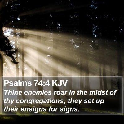 Psalms 74:4 KJV Bible Verse Image