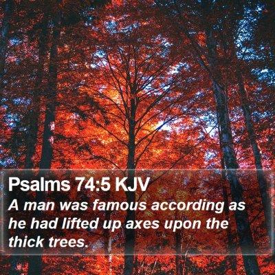 Psalms 74:5 KJV Bible Verse Image