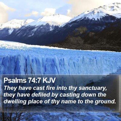Psalms 74:7 KJV Bible Verse Image